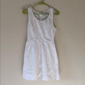 American Eagle white eyelit cotton dress